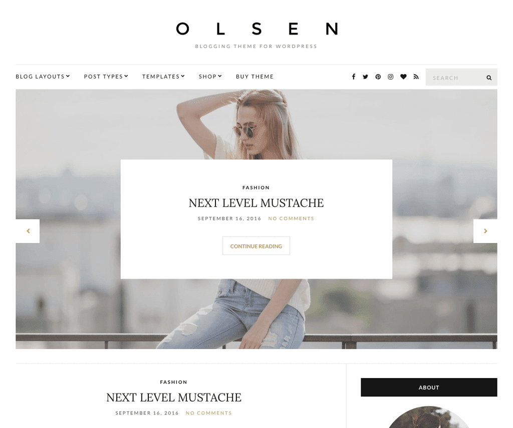 OLSEN LIGHT FREE PHOTOGRAPHY WORDPRESS THEME