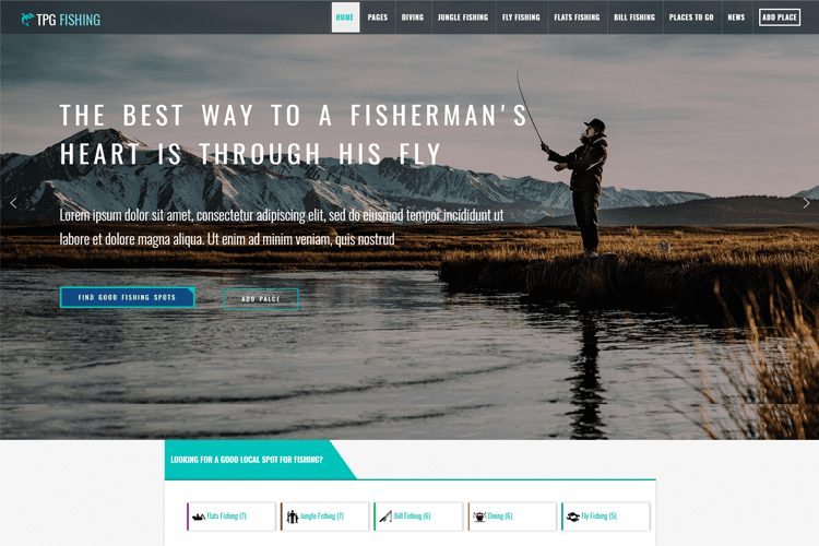 TPG FISHING FREE WORDPRESS FISHING THEME