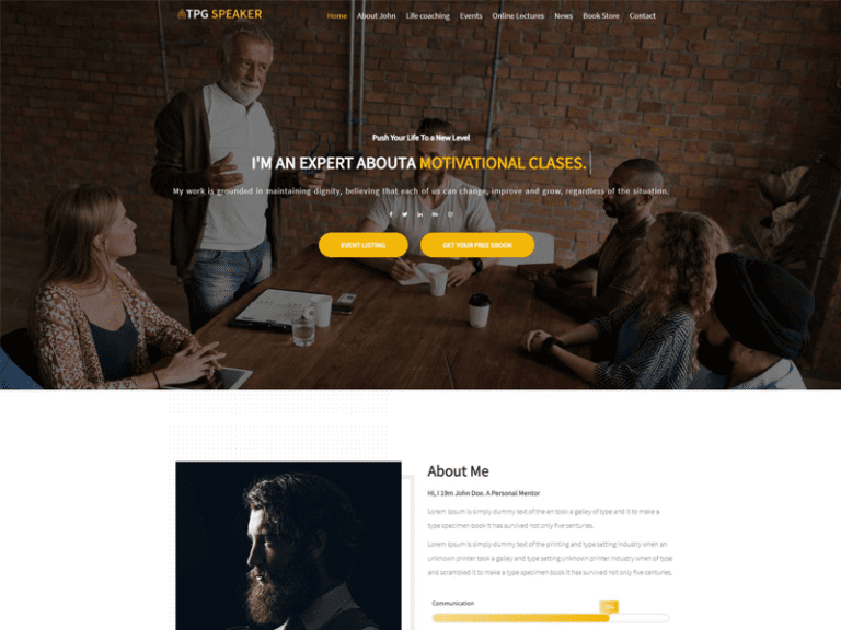 TPG SPEAKER FREE PUBLIC SPEAKER WORDPRESS THEME