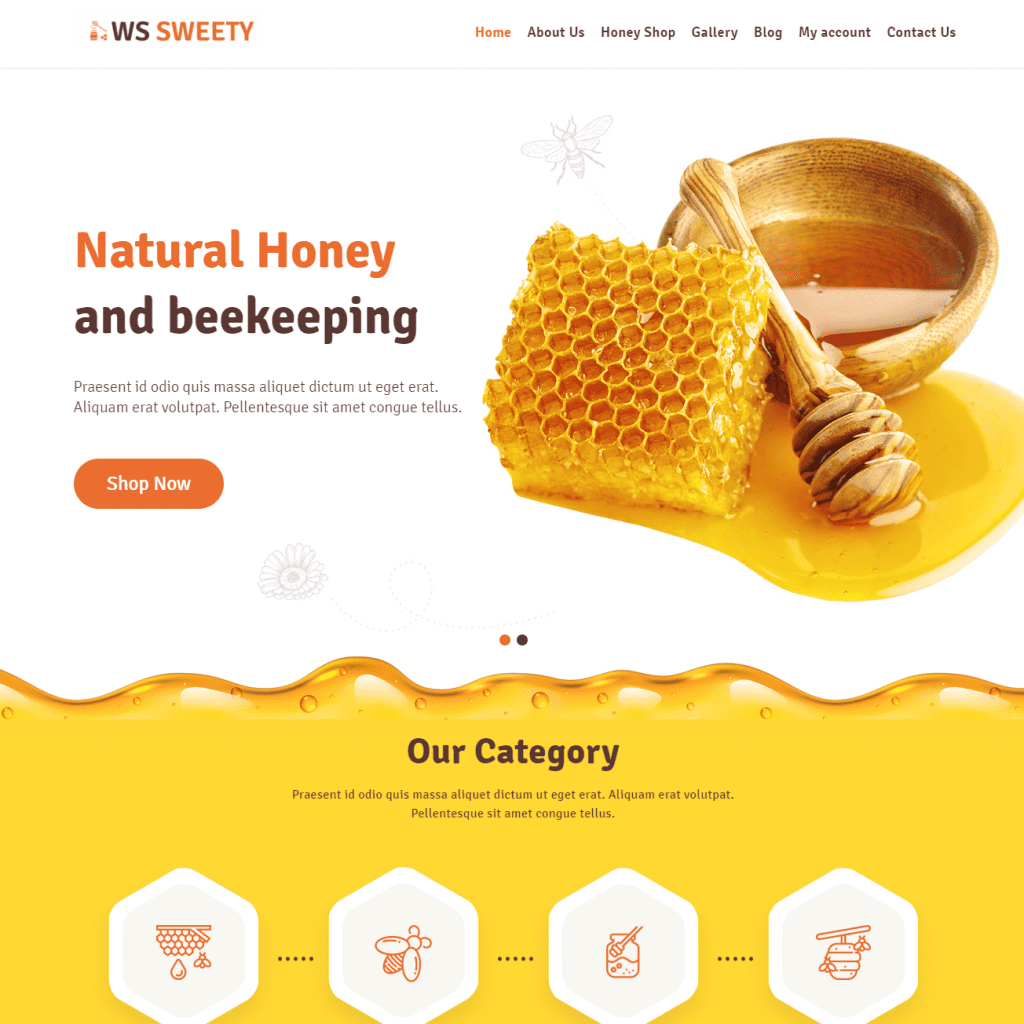 WS SWEETY EYE CATCHING HONEY WORDPRESS THEME