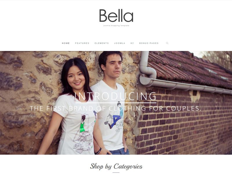 BELLA FREE JOOMLA SHOPPING TEMPLATE