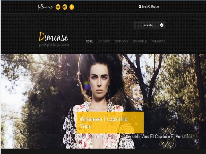 DIMENSE – JOOMLA FASHION SHOW TEMPLATE
