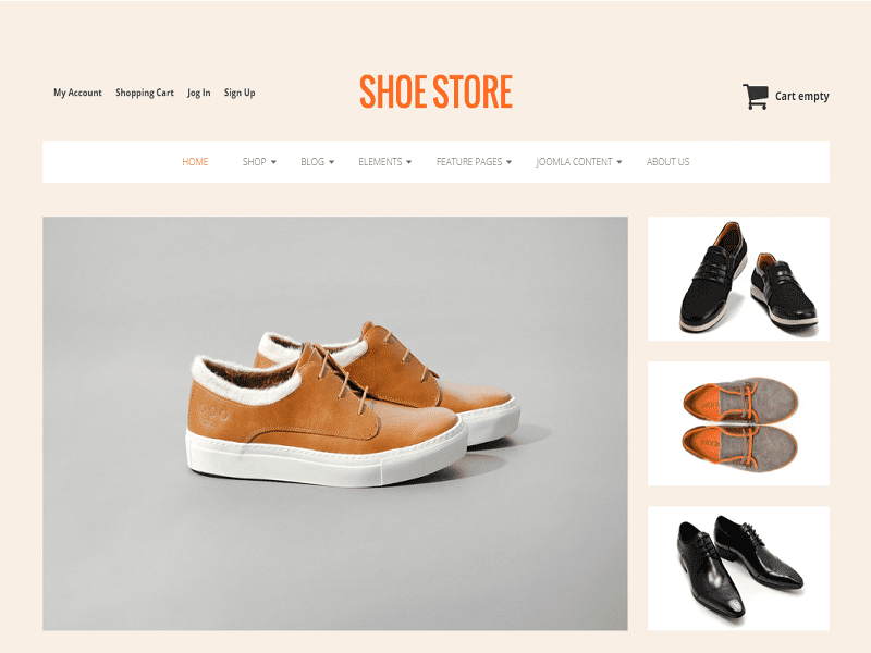 SHOE STORE – FREE JOOMLA VIRTUEMARK 3 TEMPLATE