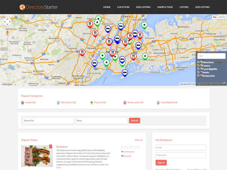 DIRECTORY STARTER FREE FOOD AND DRINK WORDPRESS THEME