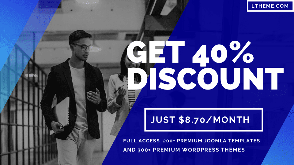 Ltheme offer 40% discount