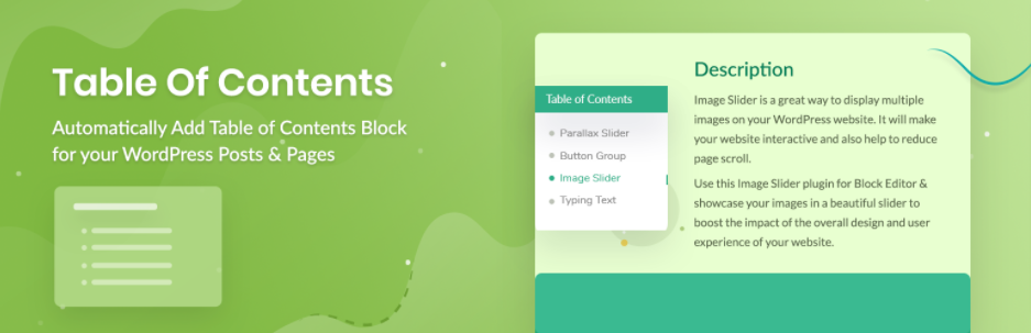 table of contents block