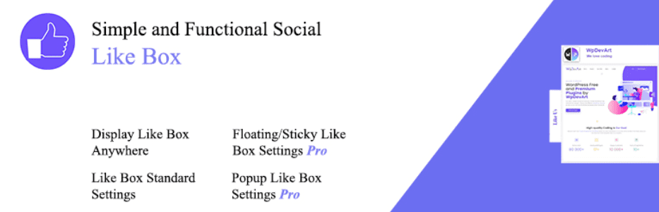 social like box and page by wpdevart