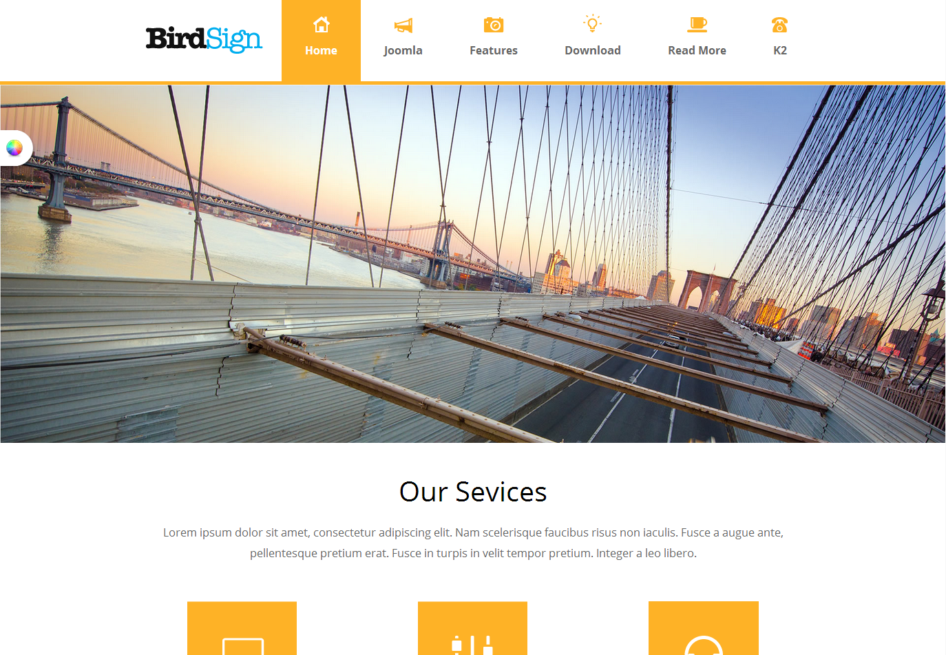 St birdsign joomla business template fbccfo Images