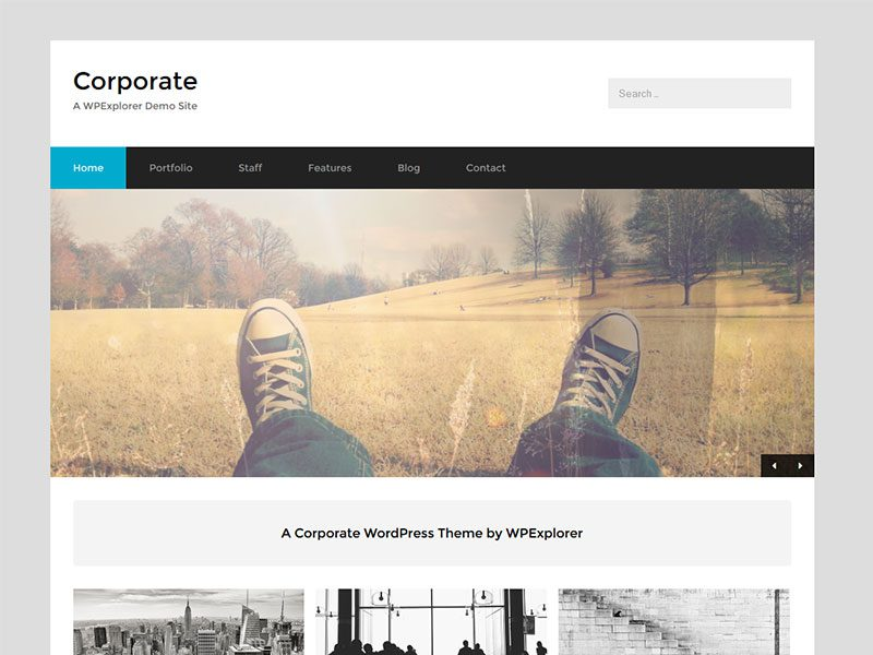 corporate business free wordpress theme