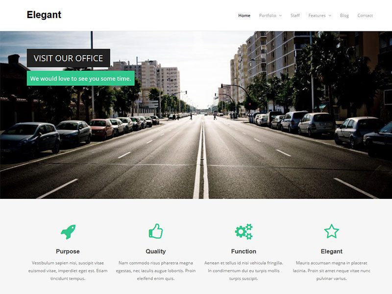 Elegant - Free WordPress Theme for business / corporation