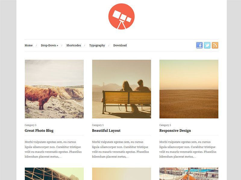 Photo - Free Responsive WordPress Theme for Gallery
