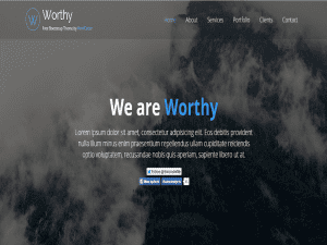 Worthy Bootstrap Template Free