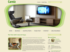WordPress themes Carniz Horizontal Menu