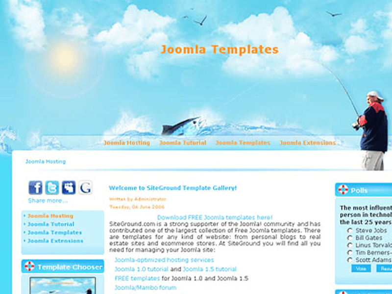 Fisherman best site download free joomla templates for business flashek Images