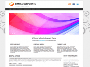 Simple Corporate-Free Theme Drupal
