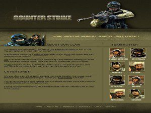 Counter Stike Template Free Website