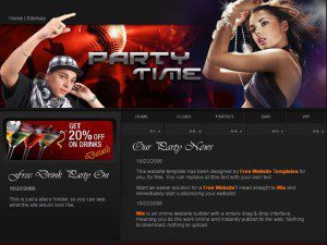 Party Time Template Free Website
