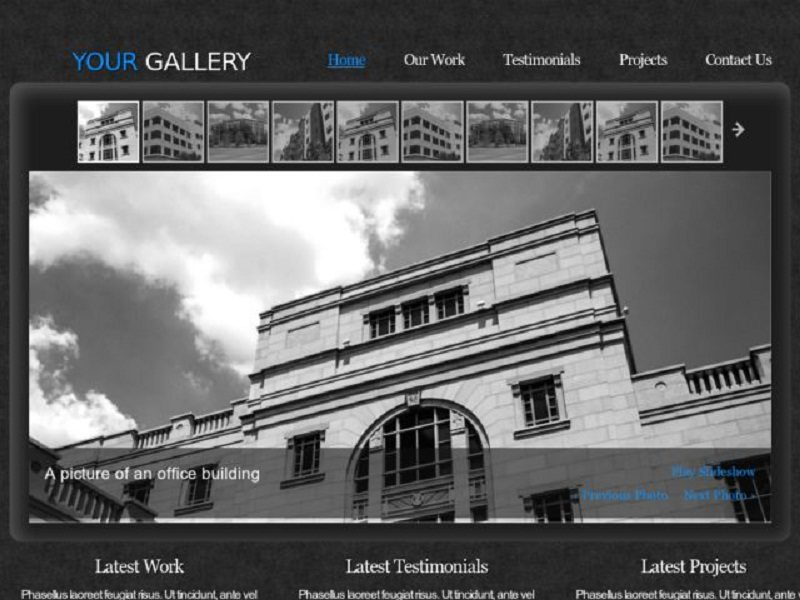 Ancient Architecture Template Website