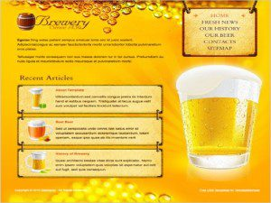 Brewery Template Free Website