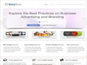 Template Free Website Busy
