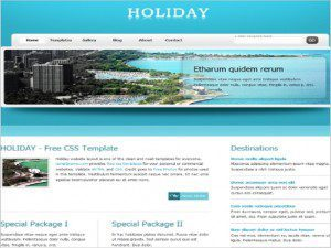Holiday Free Website Templates