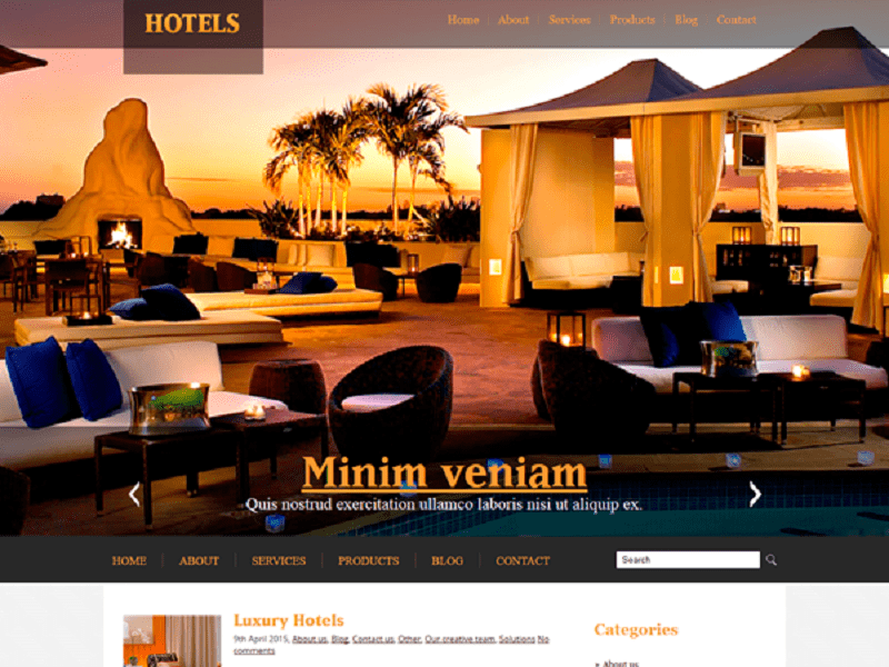 Hotels Free Theme WordPress