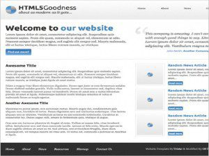 HTML5 Goodness Template Free website