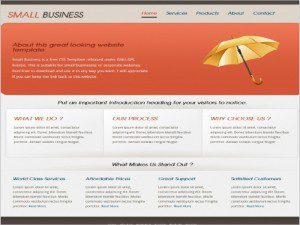 Business Template Free Website