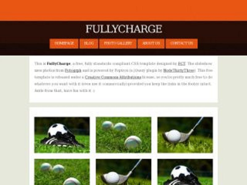 Golf course template website maxwellsz