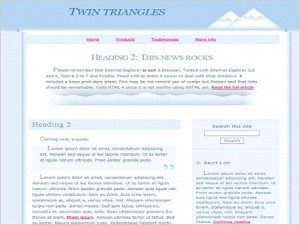 Twin Triangles Template Free