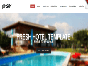 Fresh Hotel Joomla Template