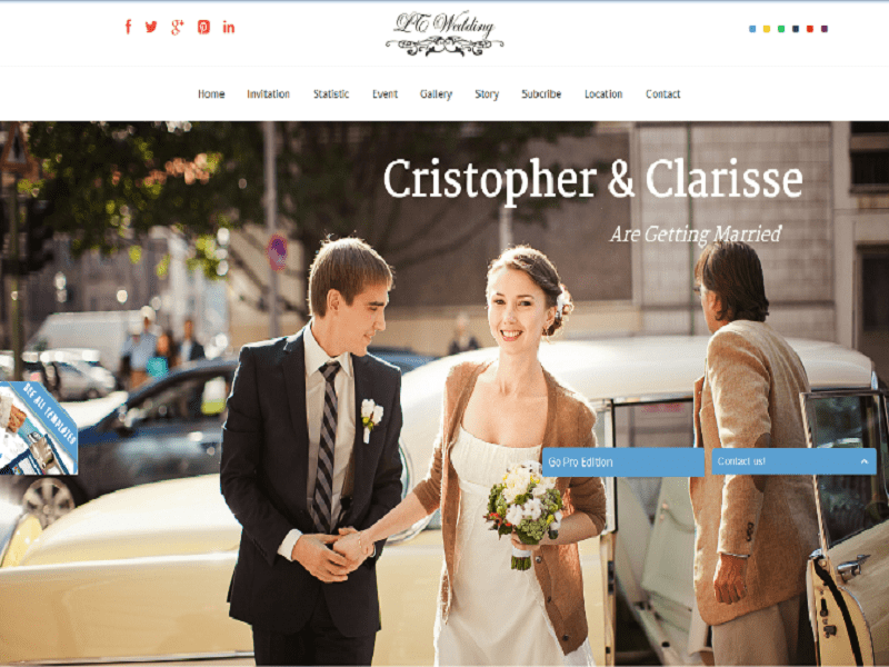 Free One Page Wedding Joomla Template
