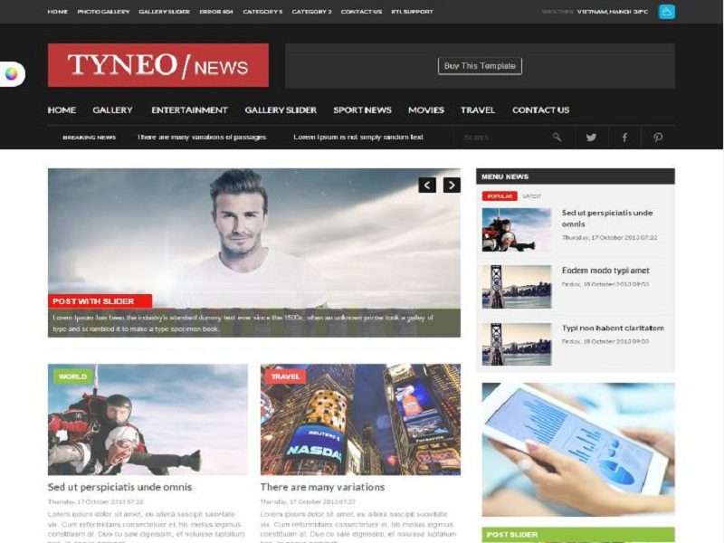 Daily Newspaper Joomla Template Free For Daily Newspaper