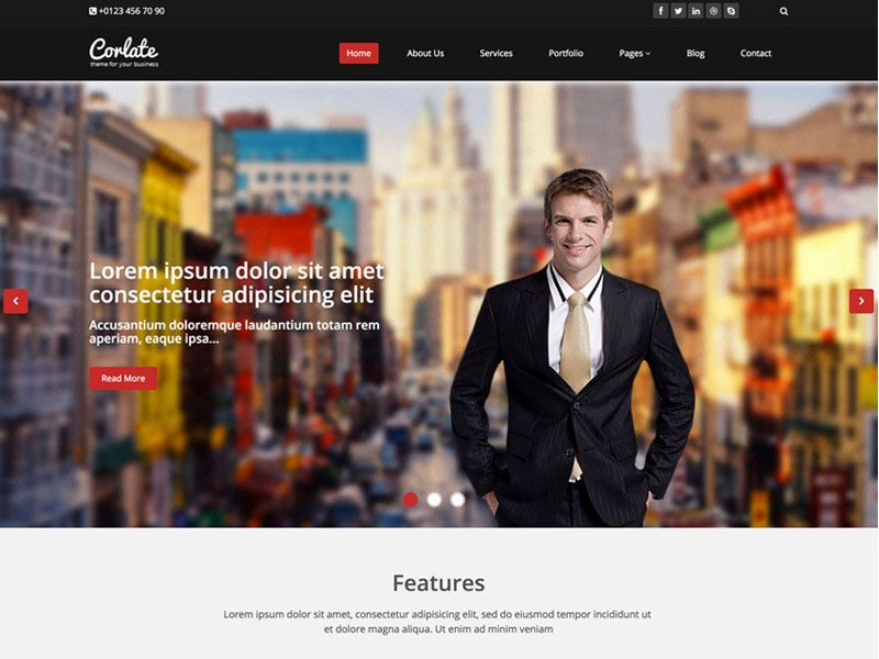 Corlate business responsive html free template accmission Choice Image