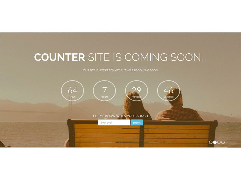 counter coming soon free bootstrap template