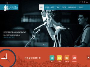 Evento One Page Free Music Event HTML Template