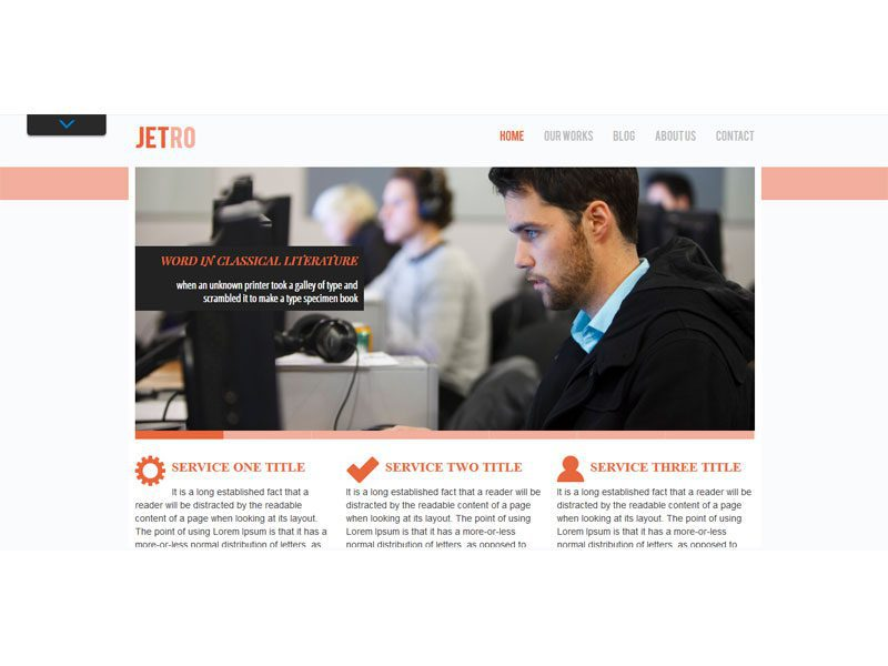 Jetro free html template for business portfolio flashek Image collections
