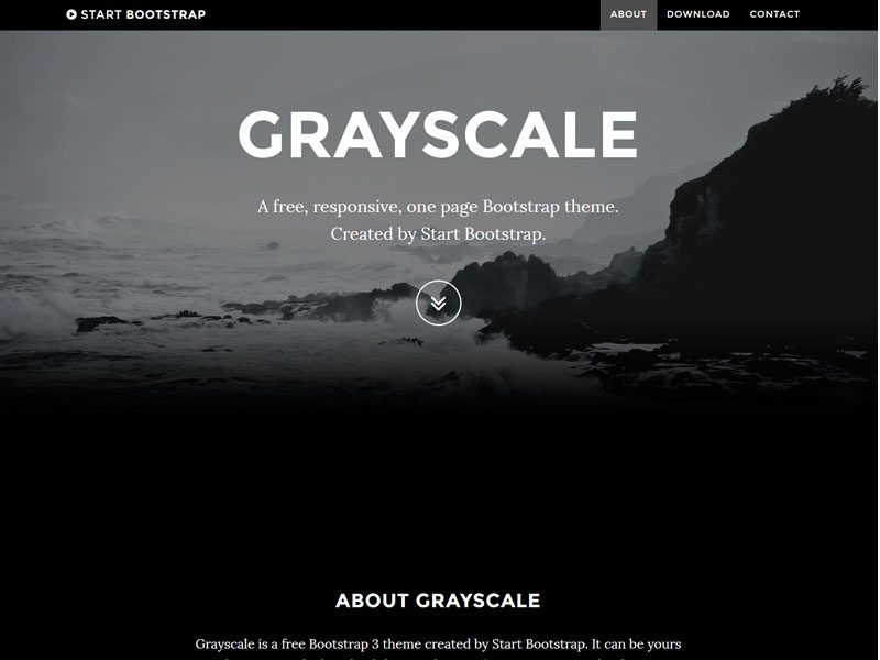 Grayscale Free One Page Bootstrap Theme