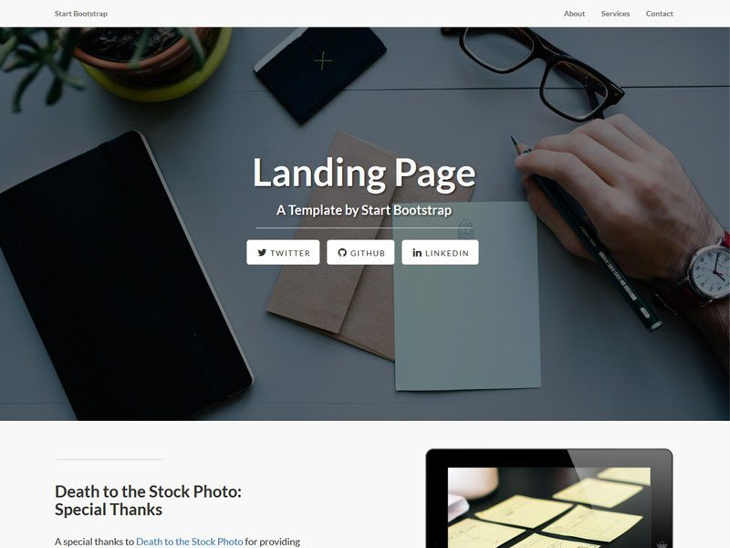 Landing-Page-Free-Theme-For-Bootstrap-3