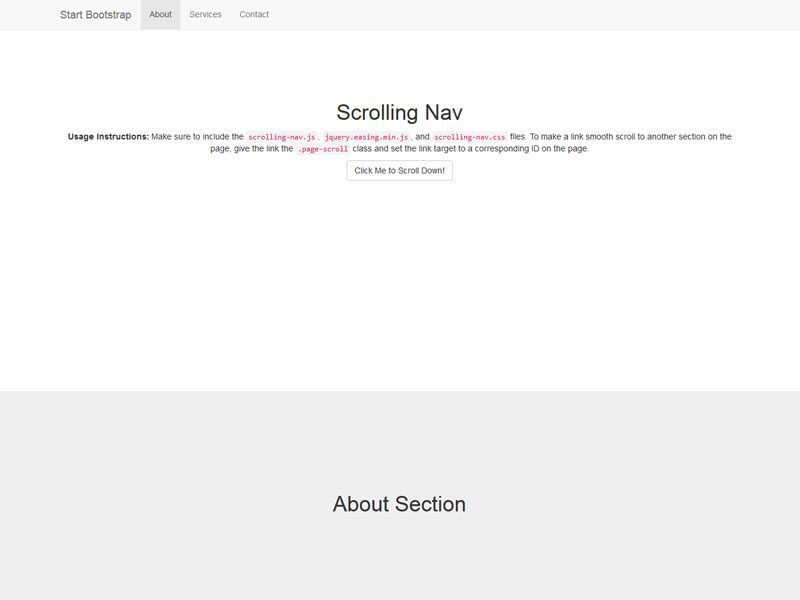 scrolling nav bootstrap one page free template