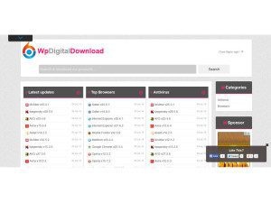 Wp Digital Download – A Free Html Template For Digital Downloads