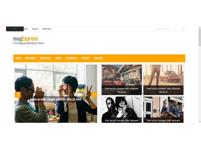 magExpress Magazine Free Bootstrap Template