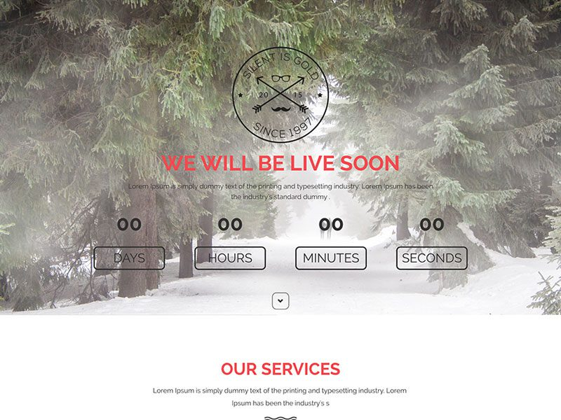Boss Responsive Bootstrap Free Coming Soon Template
