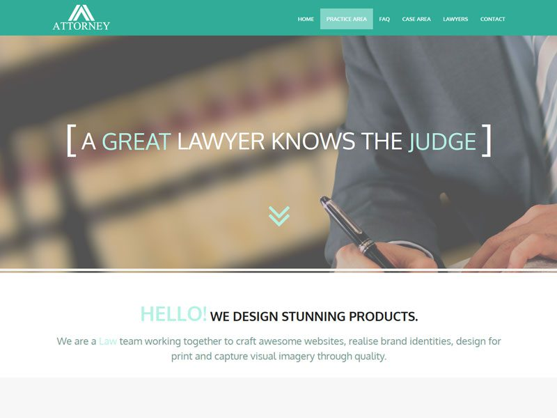 Attorney Free Lawyer Bootstrap 3 HTML5 Website