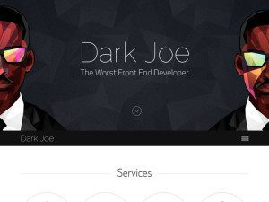 Dark Joe Personal Website Template With Bootstrap