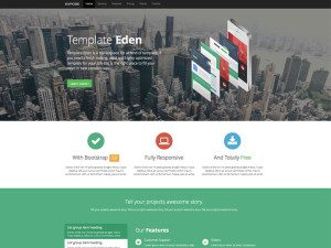 Expose One Page Bootstrap Portfolio Template