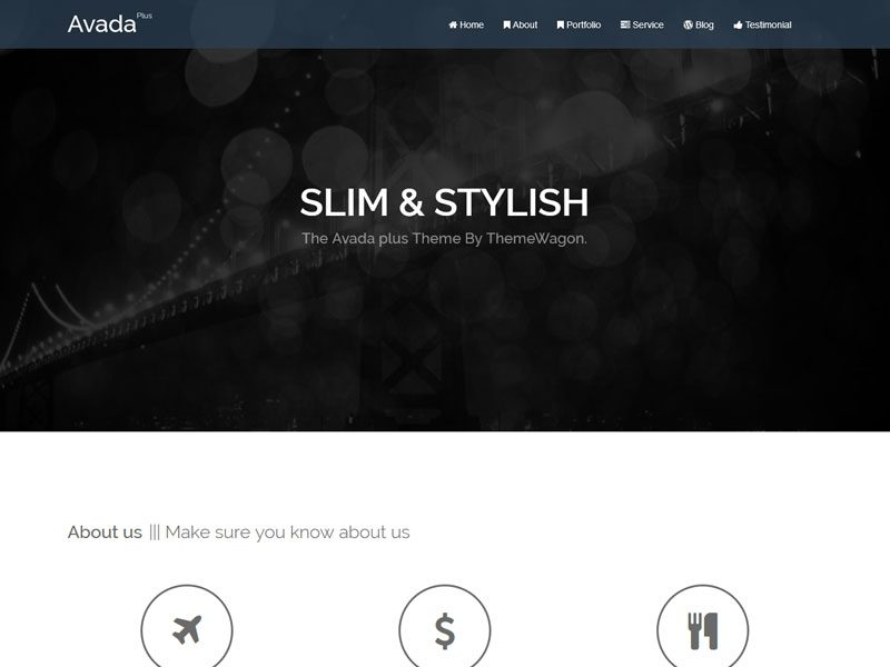 Avada Plus Free Bootstrap Html5 Agency Template