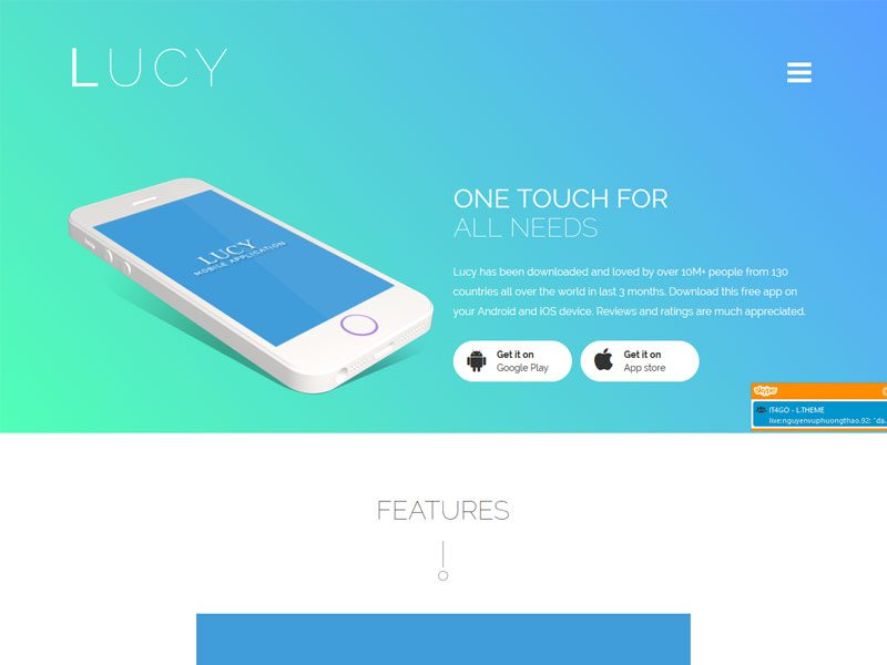 Lucy Bootstrap App Landing Page Template - Bootstrap landing page template