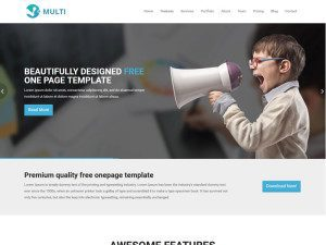 Multi - Responsive OnePage Bootstrap HTML Template
