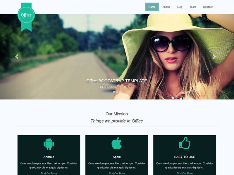 Office free responsive business bootstrap template wajeb Images